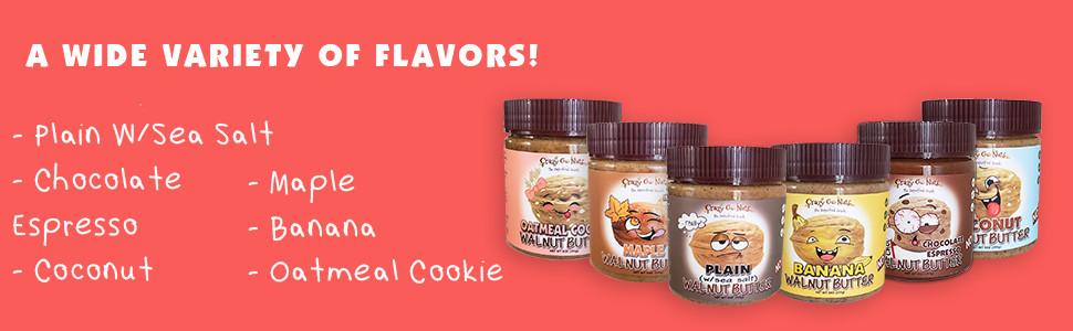 crazy go nuts walnut flavor variety wild soil almond butter organic herbicide free probiotic unsalt