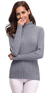 Jersey cuello alto de mujer