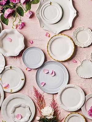 juliska berry and thread collection, ceramic plates, ceramic bowls, dinner plates, dinnerware