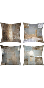 brown throw pillows throw pillows for couch set of 4 throw pillows decorative dark brown abstract