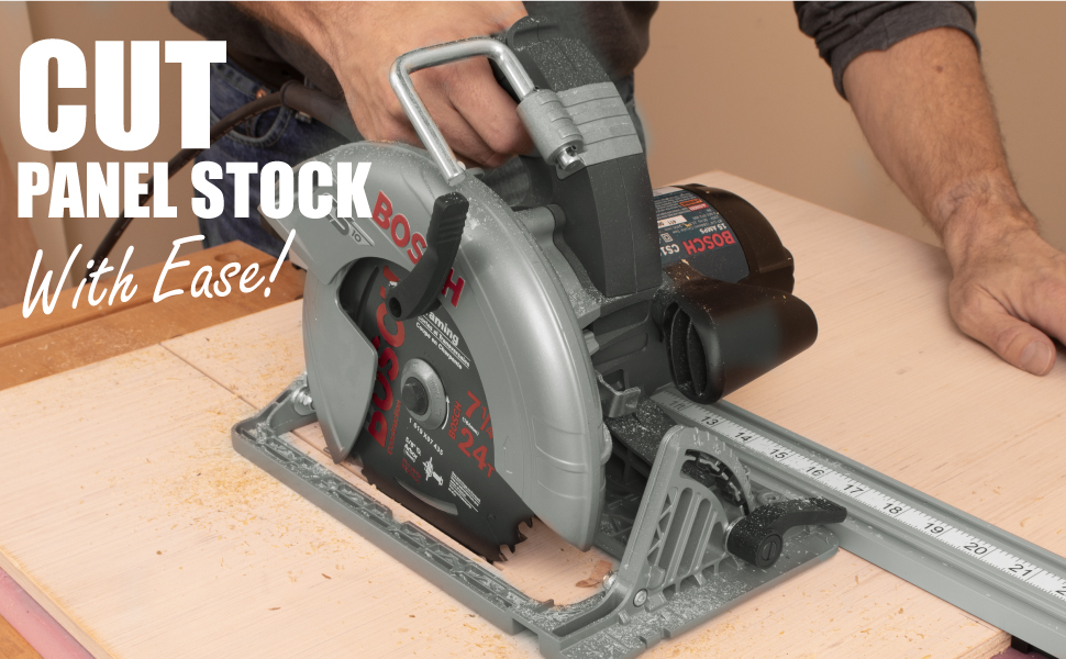 NO C-CLAMPING - No more C-clamping! Achieve that truly straight cut using this self-clamping straigh