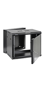 Swing Out Wall Mount IT Network Cabinet Enclosure 19-Inch Server Rack