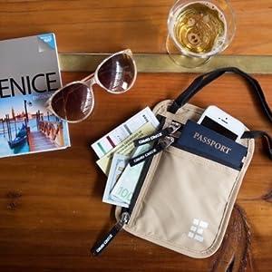 Passport Holder on Table