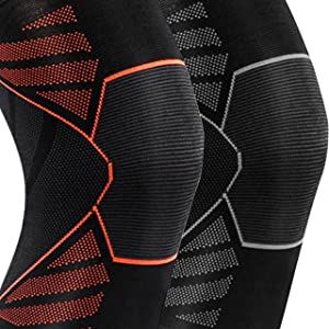 Compression Knee Sleeves running workouts leg pain wraps straps acl cycling football squats sports