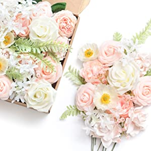 elegant blush wedding flowers