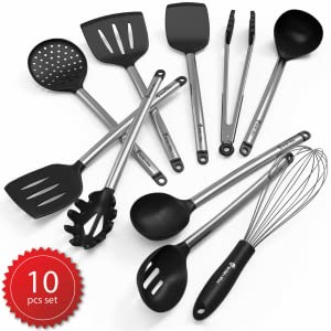 Kitchen Utensil Set Silicone Stainless Steel