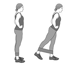 Standing Leg Extension Exercise Bands Legs Butt Back