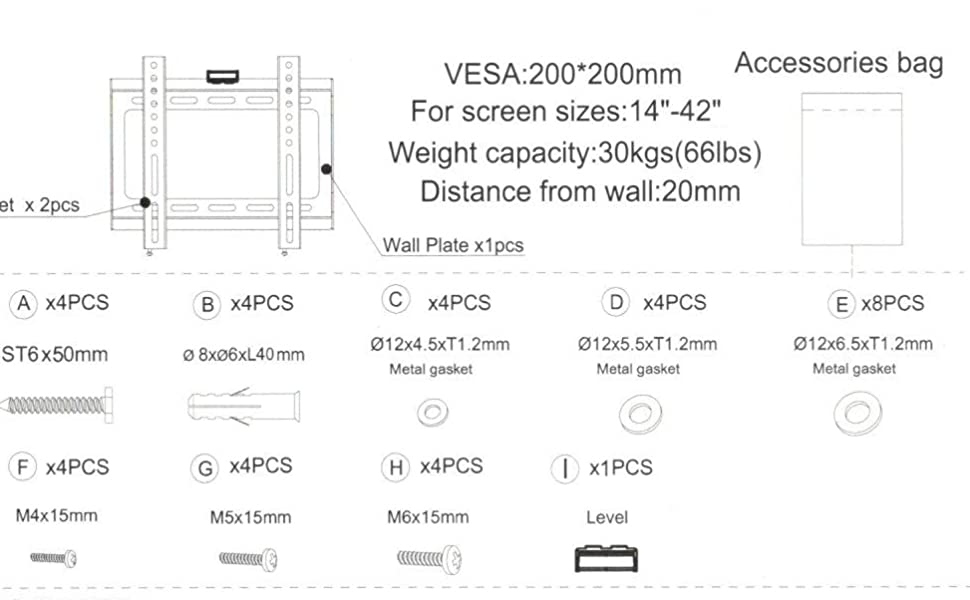 40 inch led tv wall mount