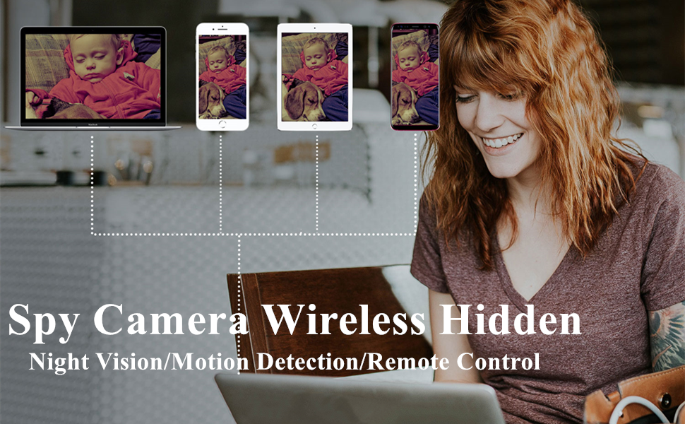 SPY CAMERE WIRELESS NIGHT VISION 1080P MOTION DETECTION REMOTE CONTROL