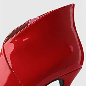 Allegra K Women's Pointed Toe V Shape Stiletto Heels Ankle Boots