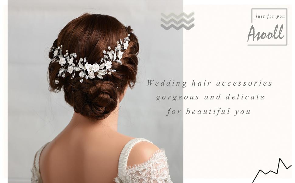 Wedding Crystal Headband Birde Rhinestone HairPiece Bridal Hair Accessories for Women and Girls