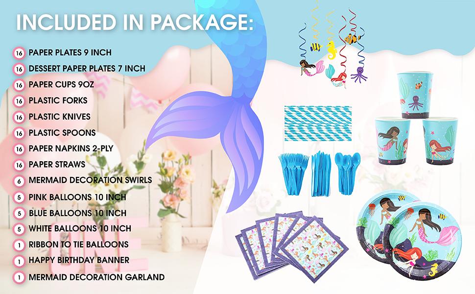 mermaid gift bag birthday decoration kit 2nd birthday party supplies
