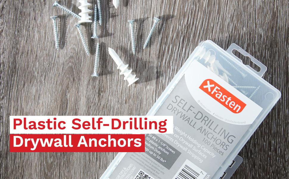 Plastic Self-Drilling Drywall Anchors