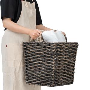 Hyacinth Blanket Basket