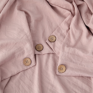 Duvet Cover Set with Buttons Closure