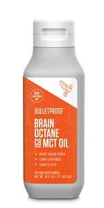 Bulletproof Brain Octane oil MCT premium C8 coconut oil grass-fed organic
