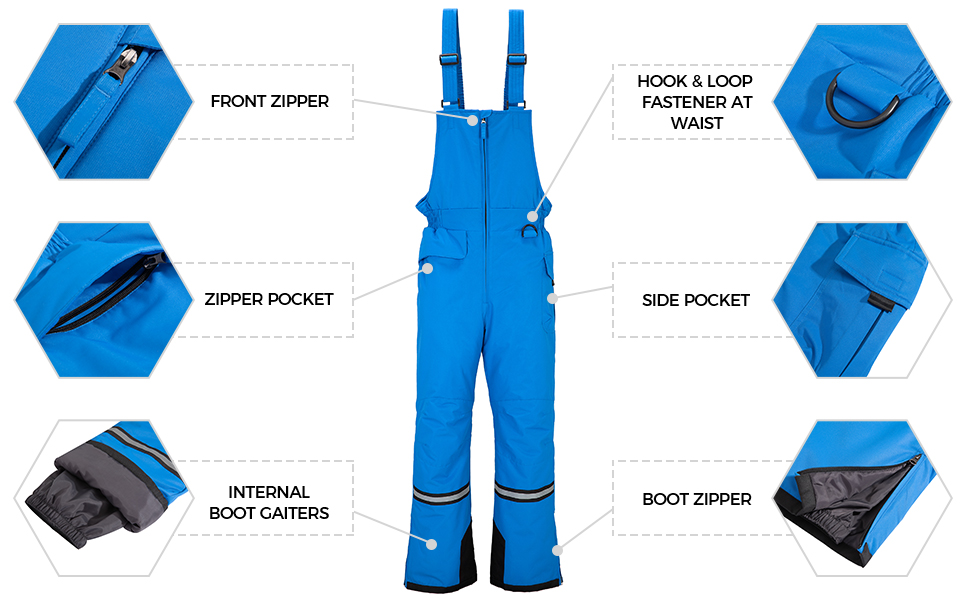 Wantdo Men's Winter Insulated Ski Pants
