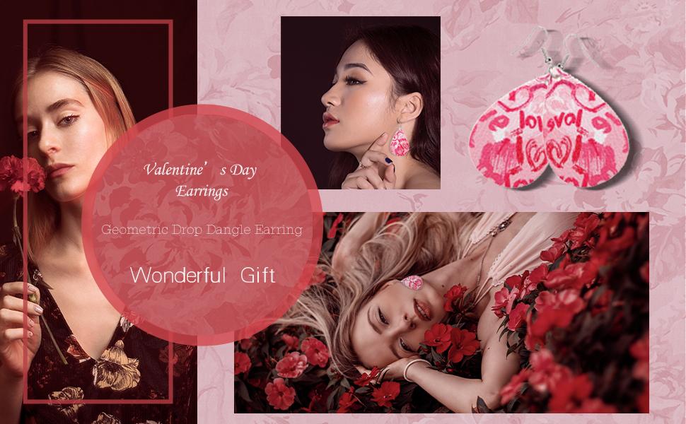 Valentine\u2019s earrings heart leather earrings Heart earrings