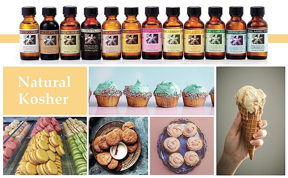 Flavors, Kosher, Natural, Ice Cream, Cookies, Cake, Yogurt, Vanilla, Mango, Fruit, Floral, Chocolate