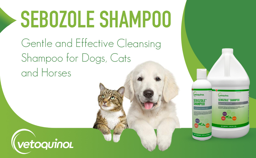 Medicated Shampoo for Dogs, Cats and Horses w/Antibacterial, Antifungal and Antiseborrheic Activity
