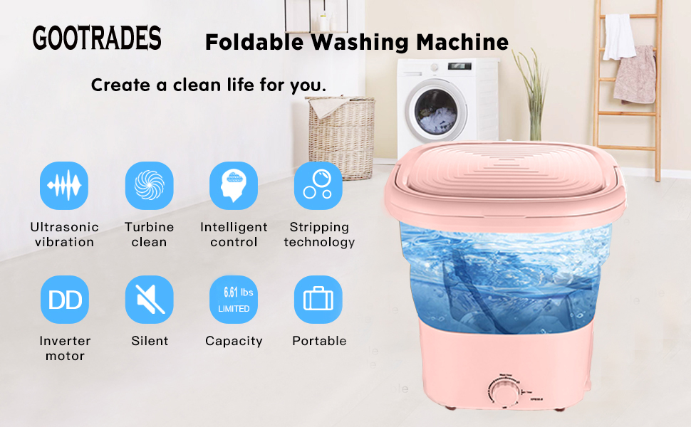 folding washer machine