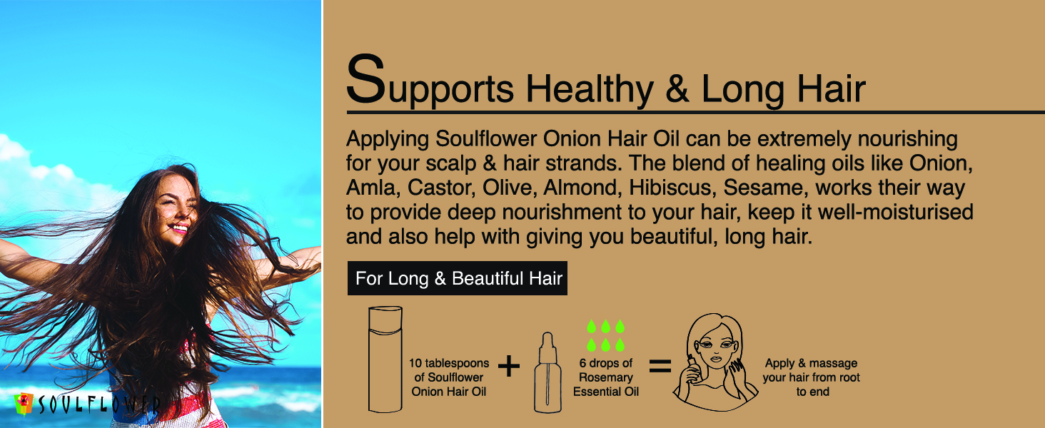 Supports healthy and long hair