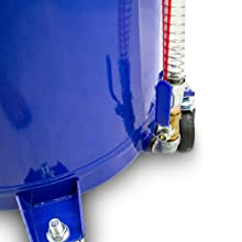 Bituxx Mobiler 80l Ölauffangwagen Ölablassgerät Ölauffanggerät Altölauffang Ölwagen Ölwechsel Druckluft Entleerung 40cm Trichter Auto