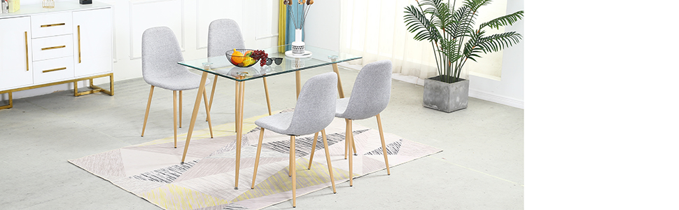 Dining Table and Chairs Set for 4