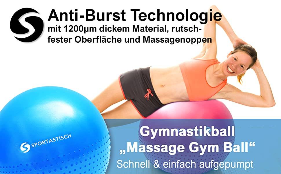 /Übung Ball Dicke Anti-Burst /Übung Ball /Übung Gymnastikball Anf/änger Balance Workout Fitness Ideal f/ür Yoga Pilates oder Geburtstherapie