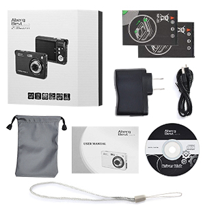 """Flashandfocus.com 6fd02f17-f6e9-415f-b491-ef5ceb07cbf6.__CR0,0,300,300_PT0_SX300_V1___ AbergBest 21 Mega Pixels 2.7"""" LCD Rechargeable HD Digital Camera,Video camera Digital Students cameras,Indoor Outdoor for Adult/Seniors/Kids (Black)"""