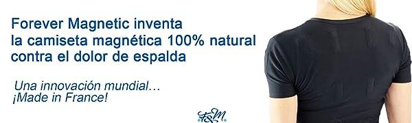 Camiseta magnética Anti dolor de espalda TM 32 Hombre Negro Talla L (97/102 cm)- Ideal para aliviar el dolor de espalda- hombro- trapecio y lumbar- ...