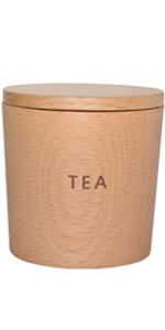 お茶 お茶の葉  ティ ティー tea キャニスター 保存 容器 密閉 木 木製