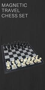 Plastic magnetic travel chess set