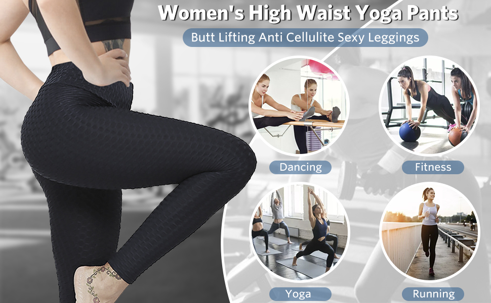 Tummy Control Slimming Booty Leggings High Waisted Yoga Pants Workout Tummy Control Tights tiktok