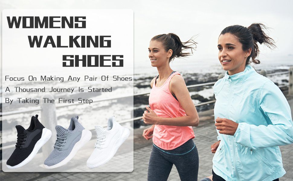 Amazon.com | IPETSUN Women's Athletic Walking Shoes - Slip On Memory Foam  Lightweight Breathable Mesh Running Sneakers for Gym Travel Work | Walking