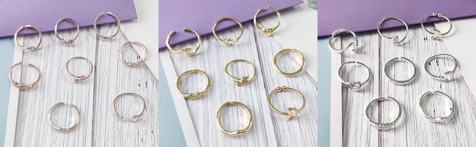 Adjustable Ring Set
