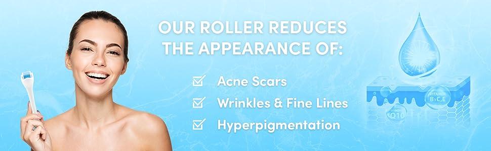 derma roller microneedling microdermabrasion face roller facial