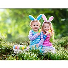 yellow pink sky blue colored clip in hair extensions Easter highlights clip in hairpiece for kids