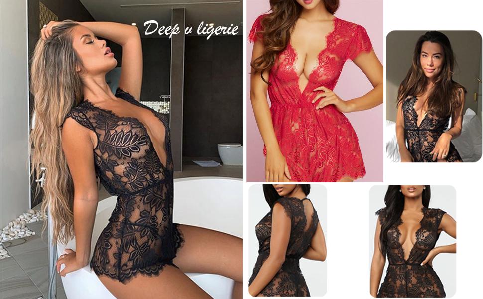 deep v lingerie