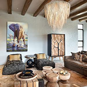 sovereignty staging living room African home decor tribal sitting area