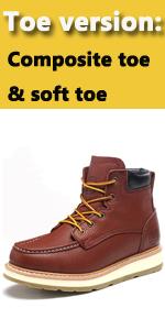 claret composite toe work boots