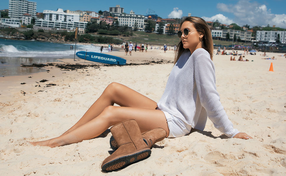ugg classic short suede