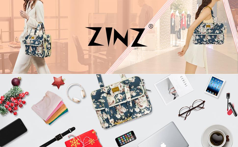 Slim and Expandable 14-15 inch Laptop Tote bag Handbag peony bu
