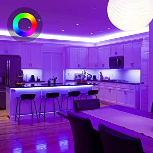 Τα Smart LED Strip Lights Λειτουργούν με το Alexa Google Home 16,4ft RGB WiFi Dimmable Strip Tape Light