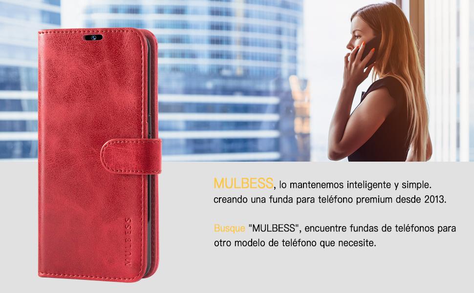 Funda Cartera para Xiaomi Redmi 8A Carcasa Negro Funda Xiaomi Redmi 8A Libro Mulbess Funda para Redmi 8A Funda con Tapa Xiaomi Redmi 8A