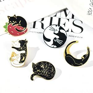 cute cat pin cat gift enamel pin cat cartoon pinlapel pin hard enamel pins enamel pin set