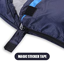 Jeaouia Lightweight Backpacking Sac de couchage pour adultes et enfants Temps Froid