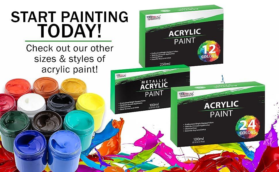Professional Acrylic Paint Jars