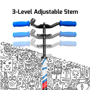 3-Level adjustable stem