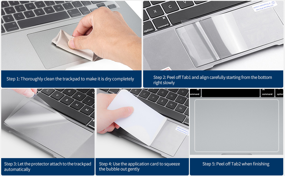 [2PCS] Trackpad Protector for 2020 MacBook Air 13 Inch A2337 (M1) A2179 A1932